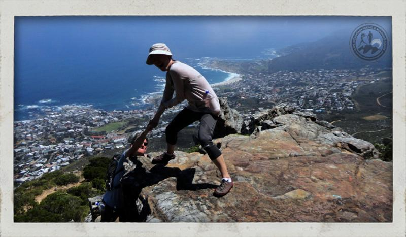 table mountain hike going up kaastel port