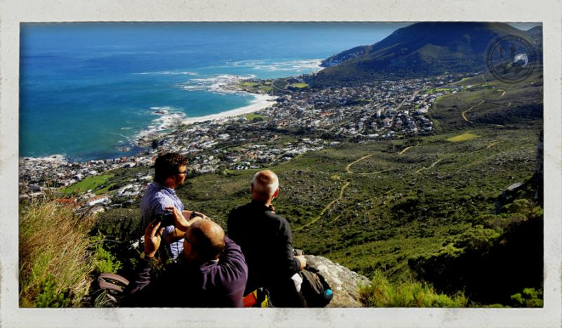 table mountain hike view of lion s head