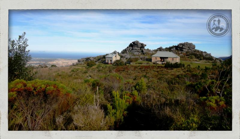 View of the overnight accommodation on Table Mountain