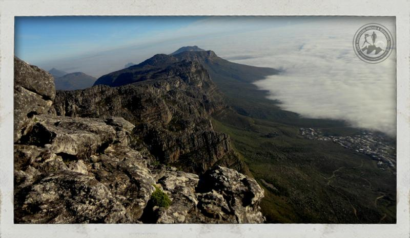 View of Camps Bay coast line from Table Mountain